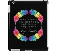 Lana Parrilla Quote (Light text) iPad Case/Skin