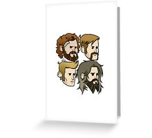 MASTODON cartoon quartet Greeting Card