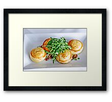 Food: Goats cheese tart Framed Print