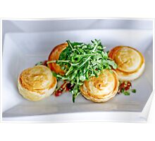 Food: Goats cheese tart Poster