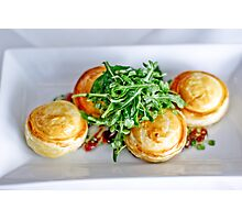 Food: Goats cheese tart Photographic Print