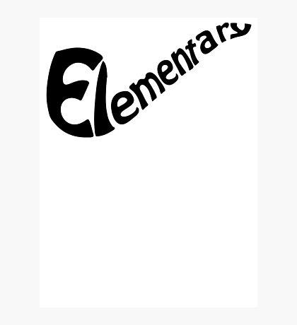 Elementary  Photographic Print
