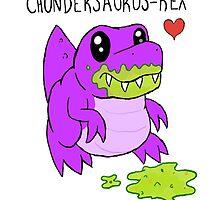 Chundersaurus Rex - Cute Dinosaur by Mochni