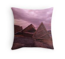 Flinders lsland -Cray Traps at Sunset Throw Pillow