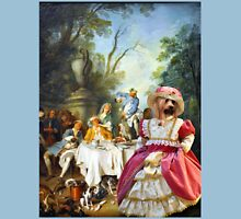Silky Terrier Art - The garden party Womens Fitted T-Shirt