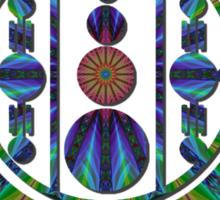 Windmill Hill Fractal Cut Sticker