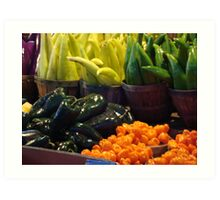 Colorful Vegetables Art Print