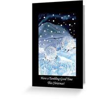 Tumbling Snowhogs! Greeting Card