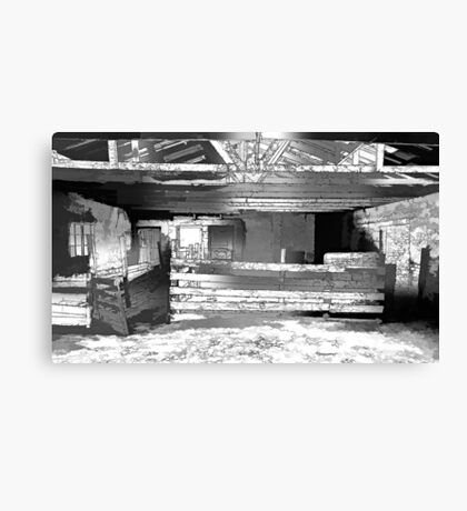 Stock Shed. Canvas Print