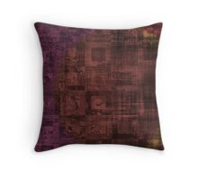 Grungy Rusty Abstract Cube Pattern  Throw Pillow