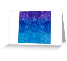 Iridium Atoms Blue Purple Greeting Card