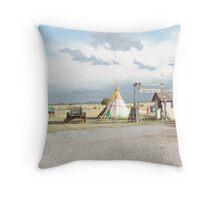 Tepee Village. Throw Pillow