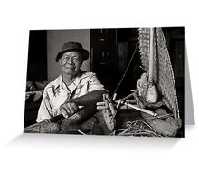Ramon Taimanao: Boat Builder Greeting Card