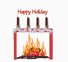 Happy Winter holiday , Fire and candles Unisex T-Shirt