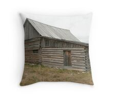 Old Wooden Barn. Throw Pillow