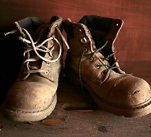 Old Boots-Maldon,Victoria by graeme edwards