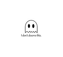 """""""I Don't Deserve This"""" Ghost Phone Case by nina8705"""