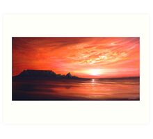 A View of Table Mountain Art Print