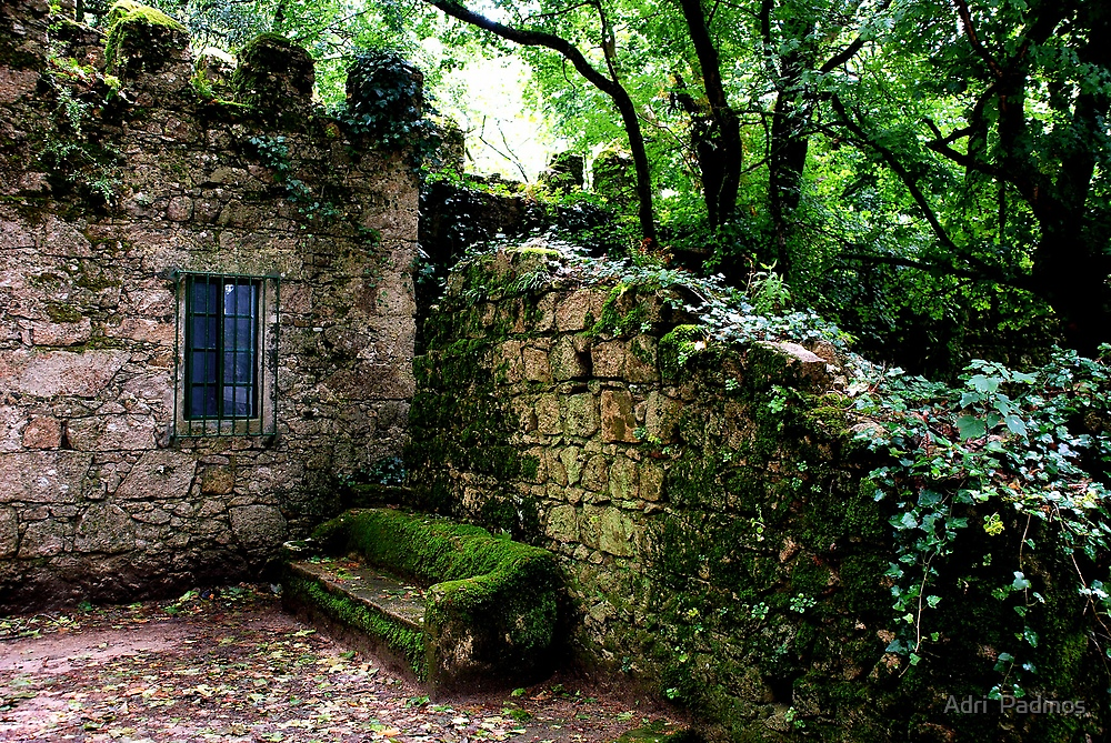 A bench in the shadow of the Moorish Castle by Adri  Padmos