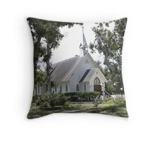 Small White Church in Titusville Fl. Throw Pillow