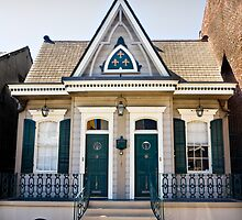 Shotgun House in French Quarter, New Orleans USA by GJKImages