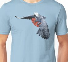 AFRICAN GREY PARROT (FLYING) #2 Unisex T-Shirt
