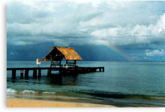 Rainbow at Pigeon Point by Wayne Gerard Trotman