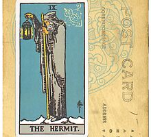 The Hermit Tarot Card by designsbycclair