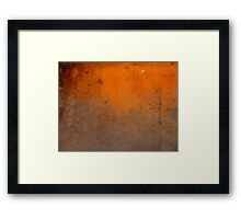 Orange Patina Framed Print