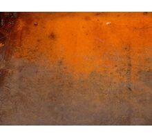 Orange Patina Photographic Print