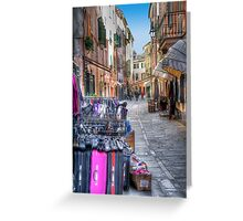Rapallo alley Greeting Card