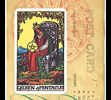 Queen Of Pentacles Tarot Card by designsbycclair