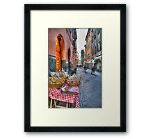 Rapallo alley Framed Print