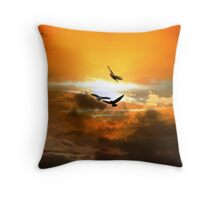 The Crowded Sky Throw Pillow
