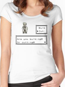 Professor Oak Pokemon. Are you bulking or cutting? Cut edition Women's Fitted Scoop T-Shirt