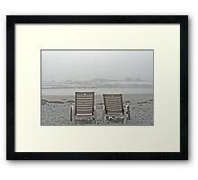Fogged In - White Point, Nova Scotia Framed Print