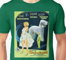 Bedlington Terrier Art - The Seven Year Itch Movie Poster Unisex T-Shirt