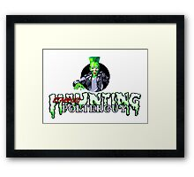 Haunting Starring Polterguy Framed Print