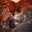 First Light on Joffre Gorge - Karijini N.P. by Mark Shean