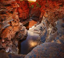 First Light on Joffre Gorge - Karijini N.P. by Mark Shean