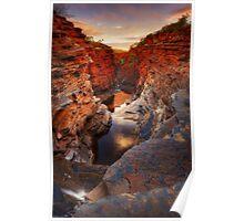 First Light on Joffre Gorge - Karijini N.P. Poster