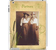 Vintage Western Cowgirl Partner Friend  iPad Case/Skin