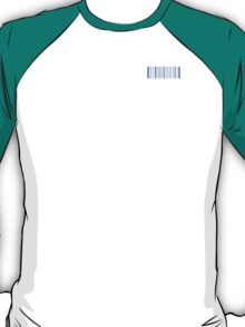 blue barcode T-Shirt