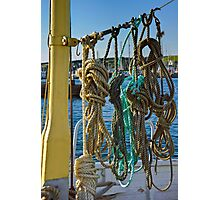 Ropes on Deck Photographic Print