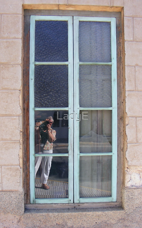 Old window and me! by LadyE