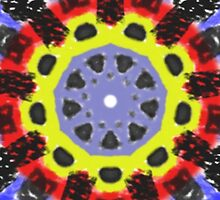 Abstract kaleidoscope pattern by ZierNor