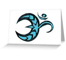 Om - Teal Sketch Greeting Card