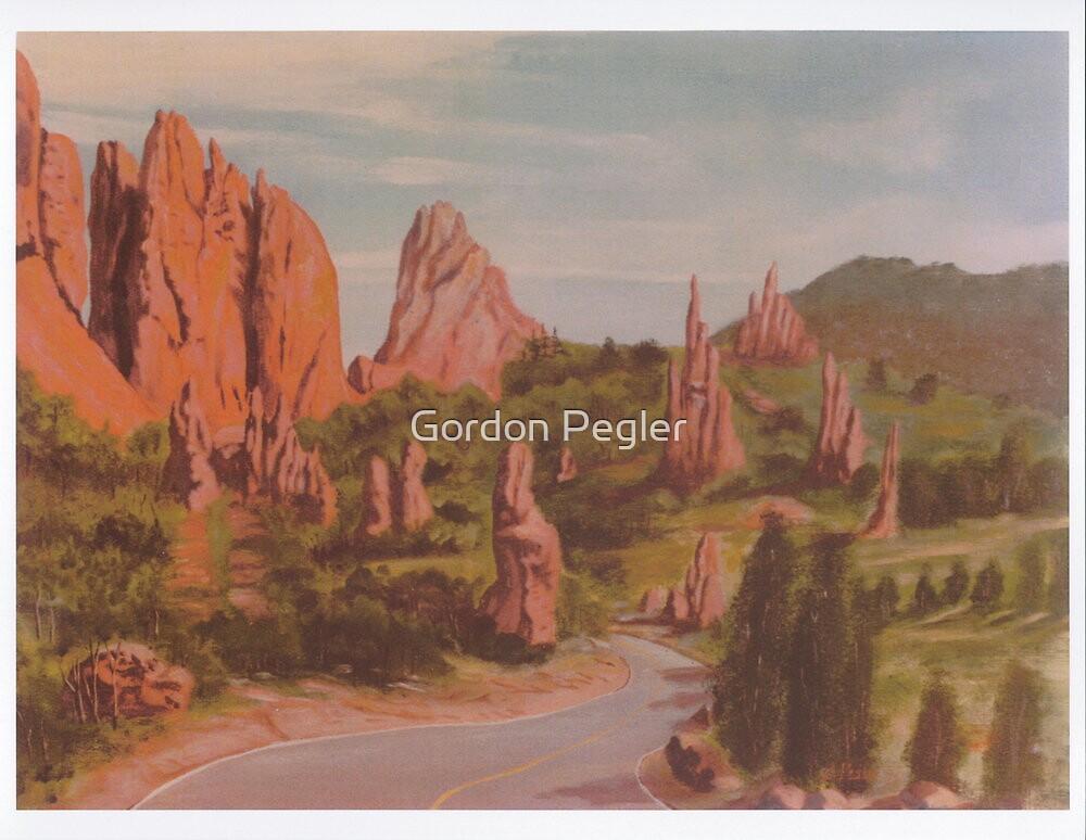 Garden of the Gods -acrylic painting on canvas by Gordon Pegler
