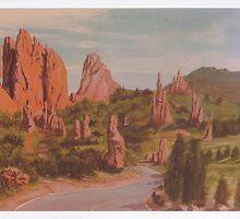 Garden of the Gods -acrylic painting on canvas by Gordon Pegler