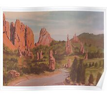 Garden of the Gods -acrylic painting on canvas Poster